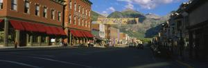 Street Through a Town, Telluride, Colorado, USA