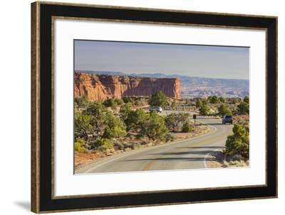 Street to the Grand View Point, Island in the Sky, Canyonlands National Park, Utah, Usa-Rainer Mirau-Framed Photographic Print