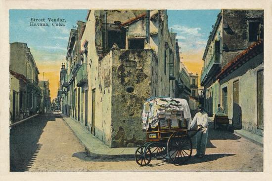 'Street Vendor, Havana, Cuba', 1938-Unknown-Giclee Print