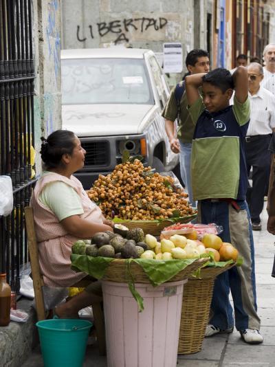 Street Vendor, Oaxaca City, Oaxaca, Mexico, North America-R H Productions-Photographic Print