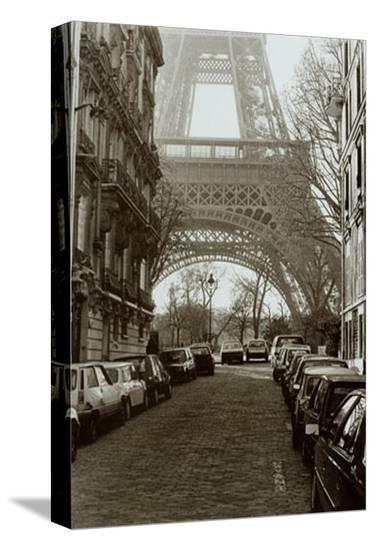 Street View of La Tour Eiffel-Clay Davidson-Stretched Canvas Print