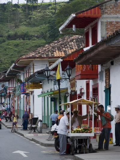Street View of the Colonial Town of Salento, Colombia, South America-Ethel Davies-Photographic Print