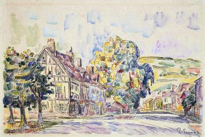 Street with a Frame House in Normandy, C1925-Paul Signac-Giclee Print