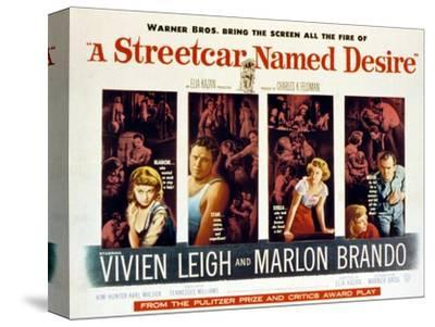 Streetcar Named Desire, Vivien Leigh, Marlon Brando, Kim Hunter, Karl Malden, 1951