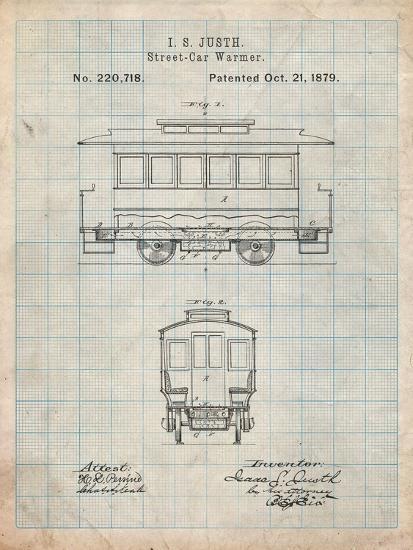 Streetcar Patent-Cole Borders-Art Print
