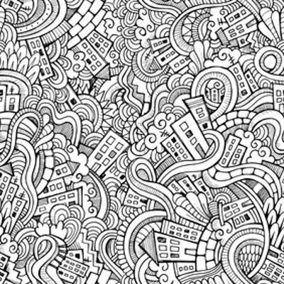 Streets And Houses Coloring Art