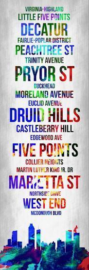 Streets of Atlanta 1-Lina Lu-Art Print