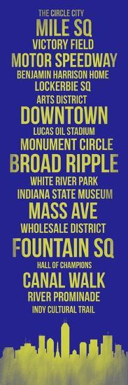 Streets of Indianapolis 3-Lina Lu-Art Print
