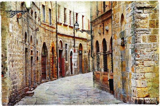 Streets of Medieval Towns of Tuscany. Italy-Maugli-l-Photographic Print