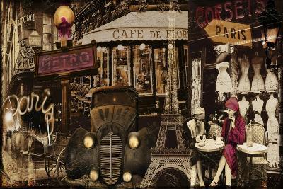 Streets of Paris I--Giclee Print