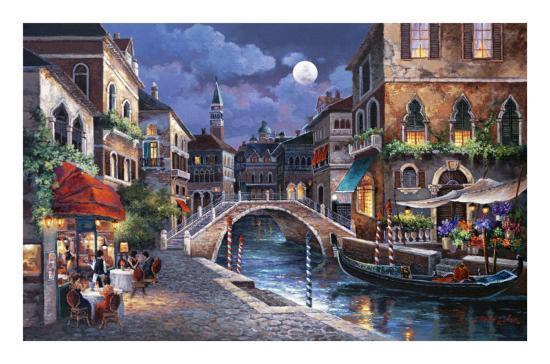 Streets of Venice II-Alma Lee-Art Print