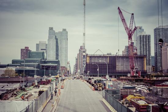 Streetview, construction site, Chelsea, Art District, Manhattan, New York, USA-Andrea Lang-Photographic Print