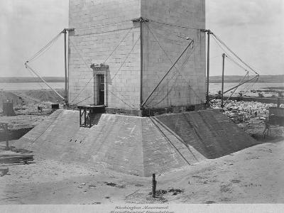 Strengthening the Foundation of Washington Monument--Photographic Print