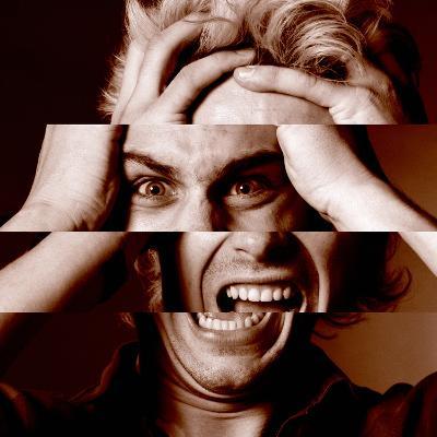 Stressed Man-Victor De Schwanberg-Photographic Print