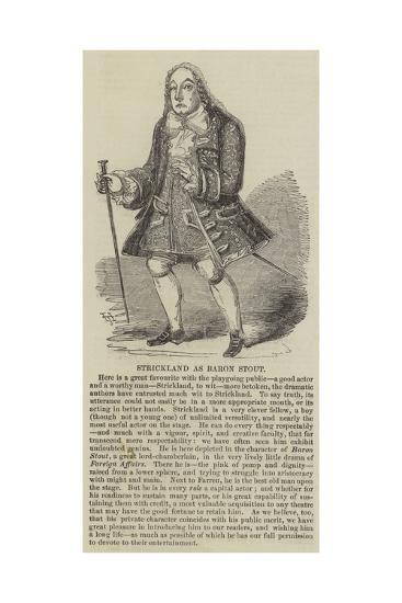 Strickland as Baron Stout--Giclee Print