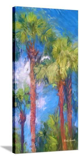 Strictly Palms 07-Kurt Novak-Stretched Canvas Print