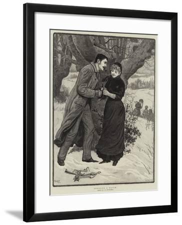 Striking a Match--Framed Giclee Print