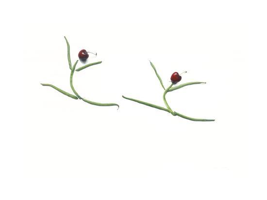 String Bean Cherrie Dancers-Donna Basile-Giclee Print