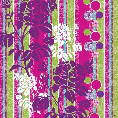 Striped Floral-Bee Sturgis-Art Print