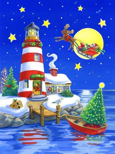 Striped Lighthouse-Geraldine Aikman-Giclee Print