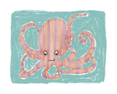 Striped Octopus-Katrien Soeffers-Giclee Print