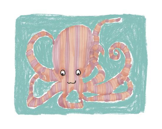 Striped Octopus-Katrien Soeffers-Giclee Print