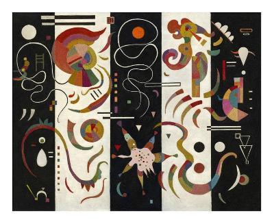 Striped (Raye)-Wassily Kandinsky-Giclee Print