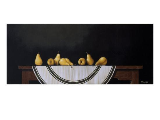 Striped Tablecloth-Chavelle-Premium Giclee Print