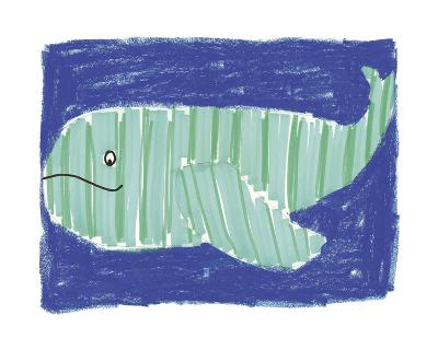 Striped Whale-Katrien Soeffers-Giclee Print