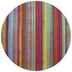 Stripes - Circular Canvas Giclee Printed on 2 - Wood Stretcher Wall Art