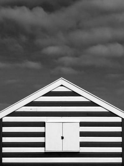 Stripes on Beach Hut-James Galpin-Photographic Print