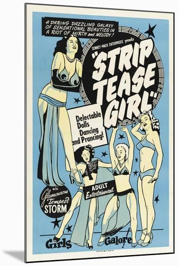 Striptease Girl-Vintage Apple Collection-Mounted Giclee Print