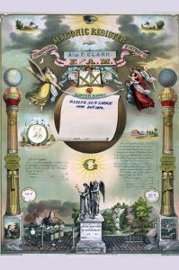 Symbols - Masonic Register by Strobridge & Gerlach
