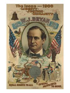 The Issue - 1900. Liberty. Justice. Humanity. W.J. Bryan by Strobridge