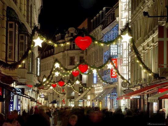 Stroget Ostergade Shopping Area at Christmas, Copenhagen, Denmark, Scandinavia, Europe-Sergio Pitamitz-Photographic Print