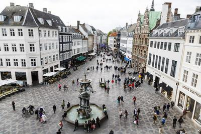 Stroget, the Main Pedestrian Shopping Street, Copenhagen, Denmark, Scandinavia, Europe-Yadid Levy-Photographic Print