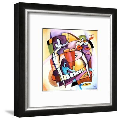 Stroking the Keys-Alfred Gockel-Framed Art Print