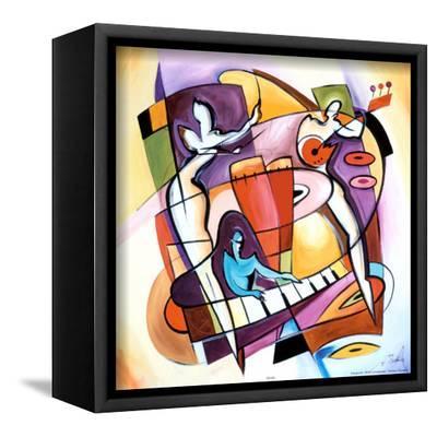 Stroking the Keys-Alfred Gockel-Framed Canvas Print