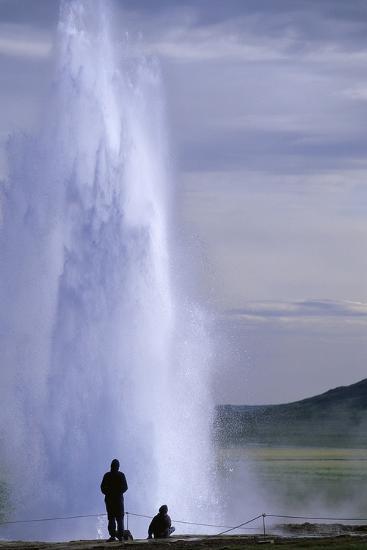 Strokkur Geysir Erupting-Paul Souders-Photographic Print