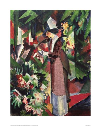 Strolling amongst Flowers-Auguste Macke-Giclee Print