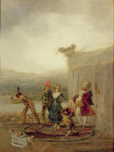 Strolling Players, 1793-Francisco de Goya-Giclee Print