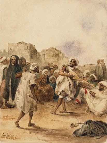 Strolling Players, 1833-Eugene Delacroix-Giclee Print