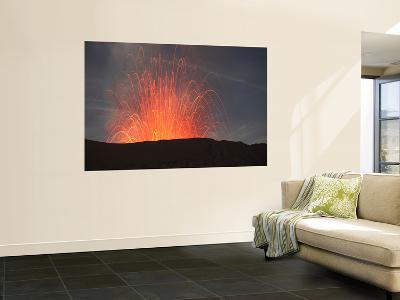 Strombolian Eruption of Mount Bromo Volcano, Tengger Caldera, Java, Indonesia-Stocktrek Images-Wall Mural