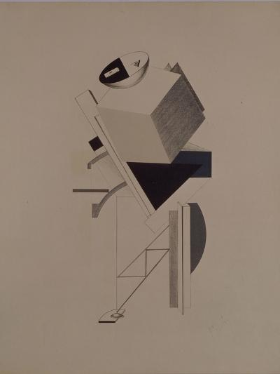 Strong Guy. Figurine for the Opera Victory over the Sun by A. Kruchenykh, 1920-1921-El Lissitzky-Giclee Print