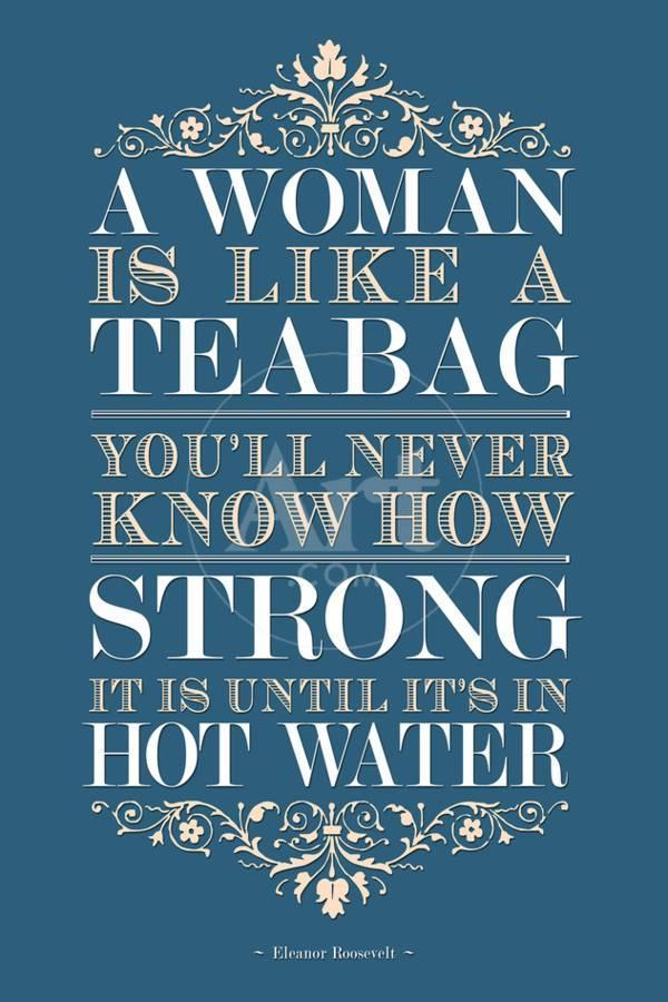 Strong Woman Eleanor Roosevelt Quote Art Print By Art