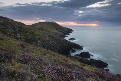 Strumble Head Lighthouse at Dusk, Pembrokeshire Coast National Park, Wales, United Kingdom, Europe-Ben Pipe-Photographic Print