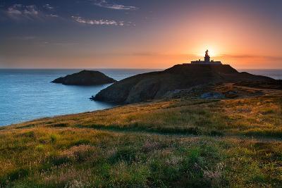 Strumble Head Lighthouse at Sunset-Spumador-Photographic Print