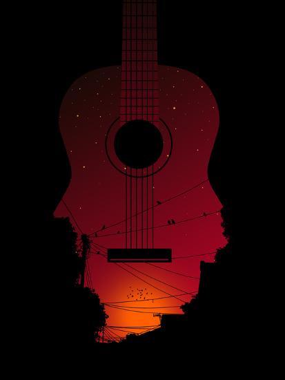 Strumming All Night--Poster