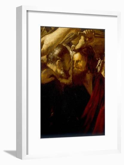 Sts Peter and Paul Meet on the Way To Their Martyrdom-Giovanni Serodine-Framed Giclee Print