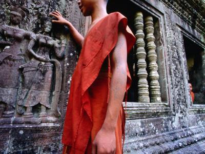 Devastas, Female Deities of Sublime Beauty at Angkor Wat's South Entrance, Cambodia